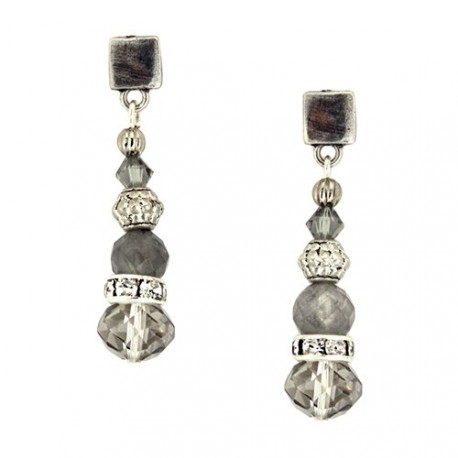 Basic Earrings - Gray | Earrings designed with crystals and swarovskis by MAR BCN