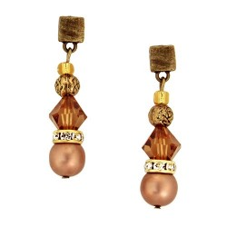 Basic Earrings - Brown | Earrings designed with crystals and swarovskis by MAR BCN